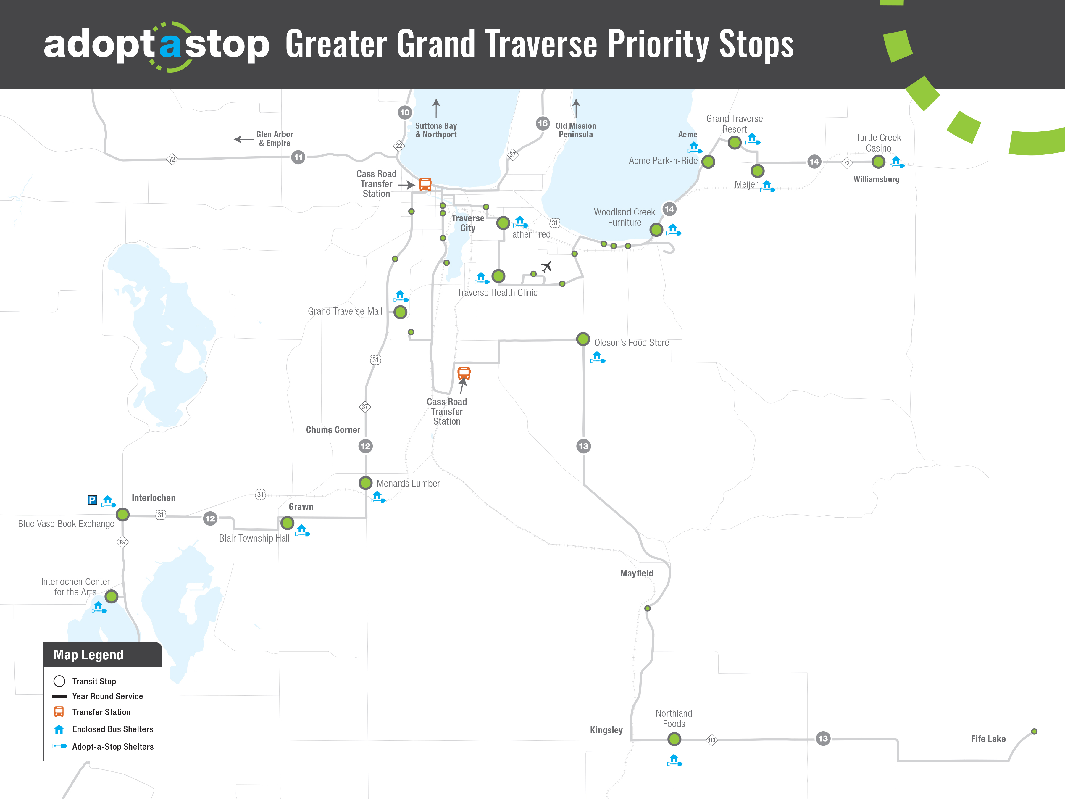 Northern Michigan Bay Area Transportation Authority adopt a stop Greater Grand Traverse Priority Stops