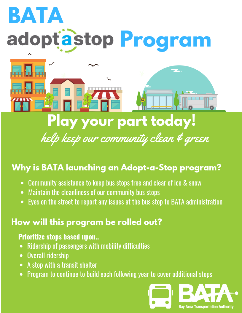 Northern Michigan Bay Area Transportation Authority adoptastop Program flyer